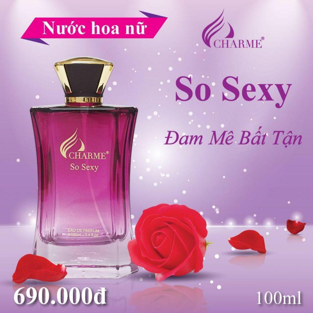 Nước hoa Charme Huế mang mùi hương nhẹ nhàng được nhiều cô nàng ưa chuộng